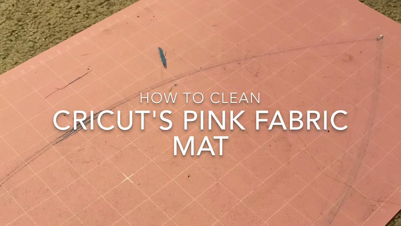 how to clean cricut pink fabric mat youtube. Black Bedroom Furniture Sets. Home Design Ideas