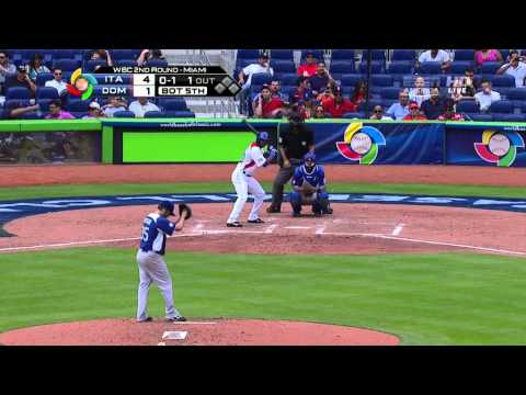 WORLD BASEBALL CLASSIC 2013  3/13/  Italy vs dominica n republic