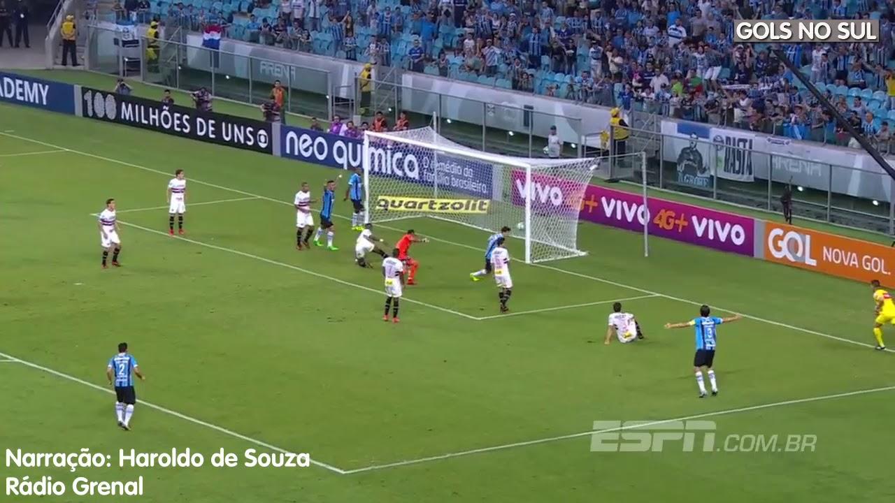 Grêmio 1 x 0 São Paulo - Rádio Grenal - 15 11 2017 - YouTube e6b4cd99460bc