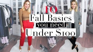 TOP 10 Fall Basics You Need | Under $100