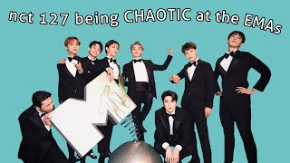nct 127 being CHAOTIC at the MTV EMAs in spain ENG SUB
