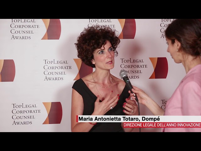 Maria Antonietta Totaro, Dompé  - TopLegal Corporate Counsel Awards 2018