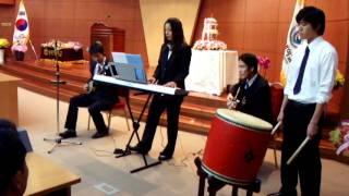 2011.10.27 鮮文大学開校記念の行事にてアルファー芸術協会が公演をしま...
