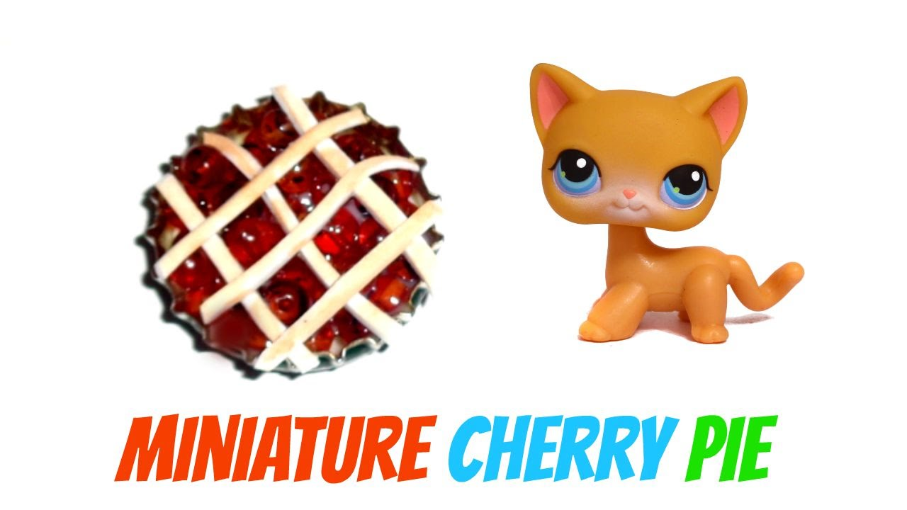 Miniature cherry pie diy lps crafts doll stuff youtube ccuart Choice Image