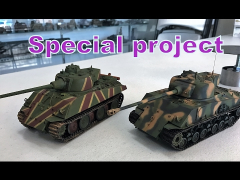 SPECIAL PROJECT : 1/35  Panther-Sherman 1946 what if ?
