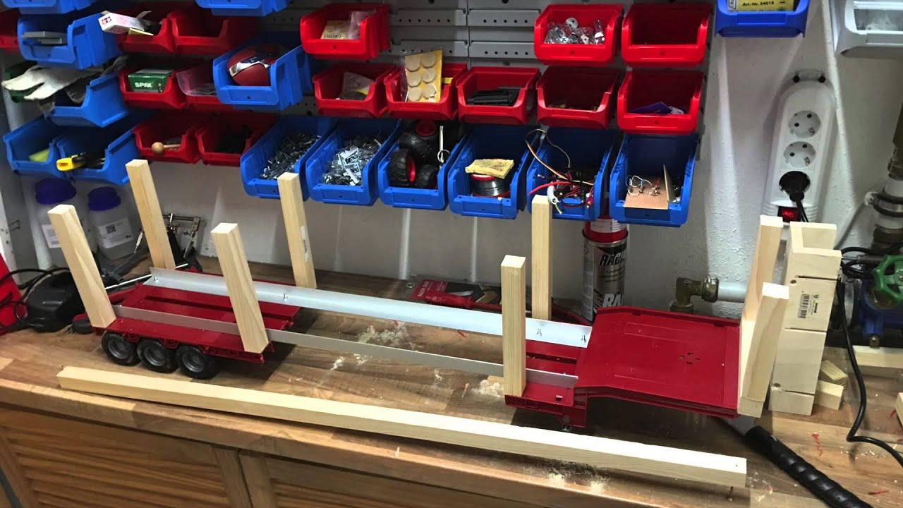 RC Truck Auflieger bauen - YouTube