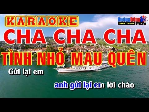 Karaoke cha cha cha Tình Nhỏ Mau Quên - Beat chất lượng cao