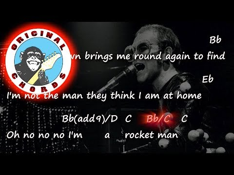Elton John - Rocket Man - Chords & Lyrics