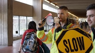 SFU Launches New Texting-Free Walking Zones