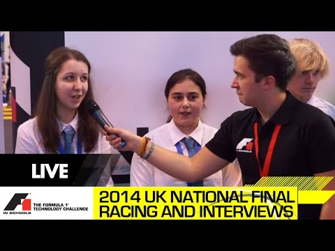 F1 in Schools UK National Final 2014 F1 Class Racing and Team Interviews
