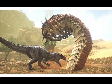 Giganotosaurus vs Alpha Deathworm || ARK: Survival Evolved || Cantex