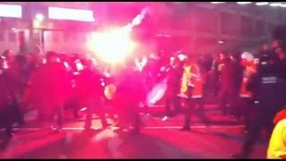 Ultra Sur vs Boixos Nois -Hooligans- FC Barcelona Vs Real Madrid CF 2013