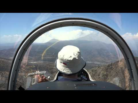 Flying over Santiago de Chile, Vitacura Gliding Club
