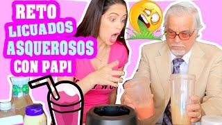 Reto LICUADOS ASQUEROSOS con Papi! Lunes de Tag - Sandra Cires Art