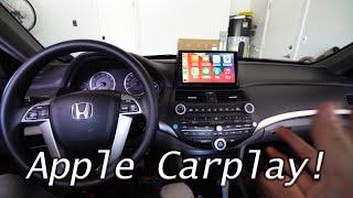 Wireless Apple Carplay QLED on Honda Accord (2008-2012)   Full Install