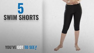Top 10 Swim Shorts [2018]: Carrel Nylon Lycra Fabric Women Solid Swimwear Capri(AGSPL-3546)