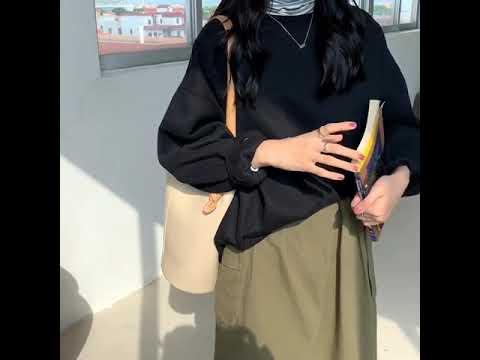 여성 캐주얼 가을 겨울 기모 파스텔톤 맨투맨