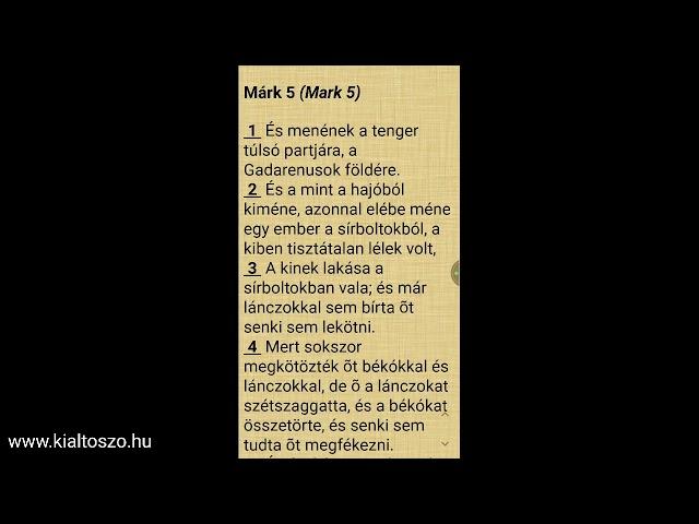 Márk evangéliuma, 5. fejezet (Leányka, néked mondom, kelj föl!)