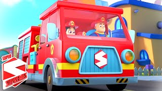 The Fire Truck Song For Kids | Firefighter To The Rescue | The Big Red Fire Truck | Nursery Rhymes
