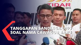 Soal Dua Nama Cawagub DKI Jakarta Pendamping Anies, Sandiaga Uno : Cocok!