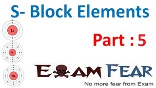 Chemistry S Block Elements part 5 (Alkali metal trends Chemical properties 2) CBSE class 11 XI