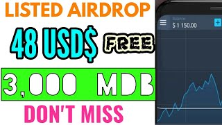 Free 48 USD$ MDB Coin | Listed On BitForex Exchange | Legit Airdrop - Don't Miss.