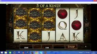 GAME OF THRONES ONLINE SLOT WINS!!!(, 2015-02-24T18:38:59.000Z)