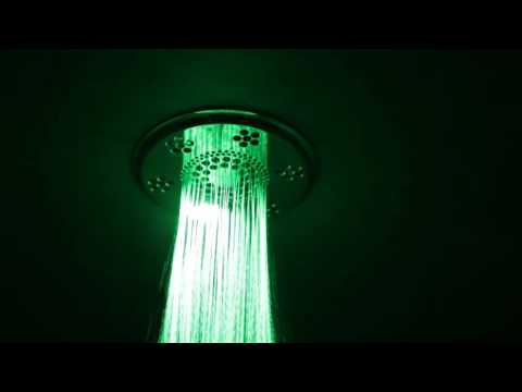 Thermasol Rainhead Shower Head Plays Music and Lights