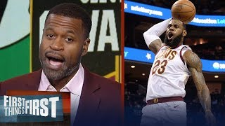 Stephen Jackson on how LeBron will lead Cavs to a Game 3 win over Boston | NBA | FIRST THINGS FIRST