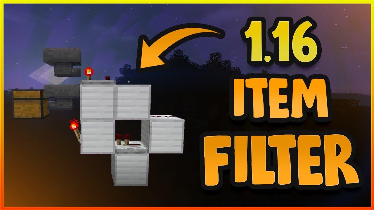 [TUTORIAL] Easy item filter  Minecraft 9.96