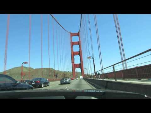 Crossing Golden Gate Bridge in Rental Car Toll Paid HD