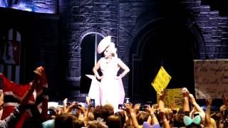 Lady Gaga improvise during a Power Blackout, The Born This Way Ball, Stockholm - amaniii89