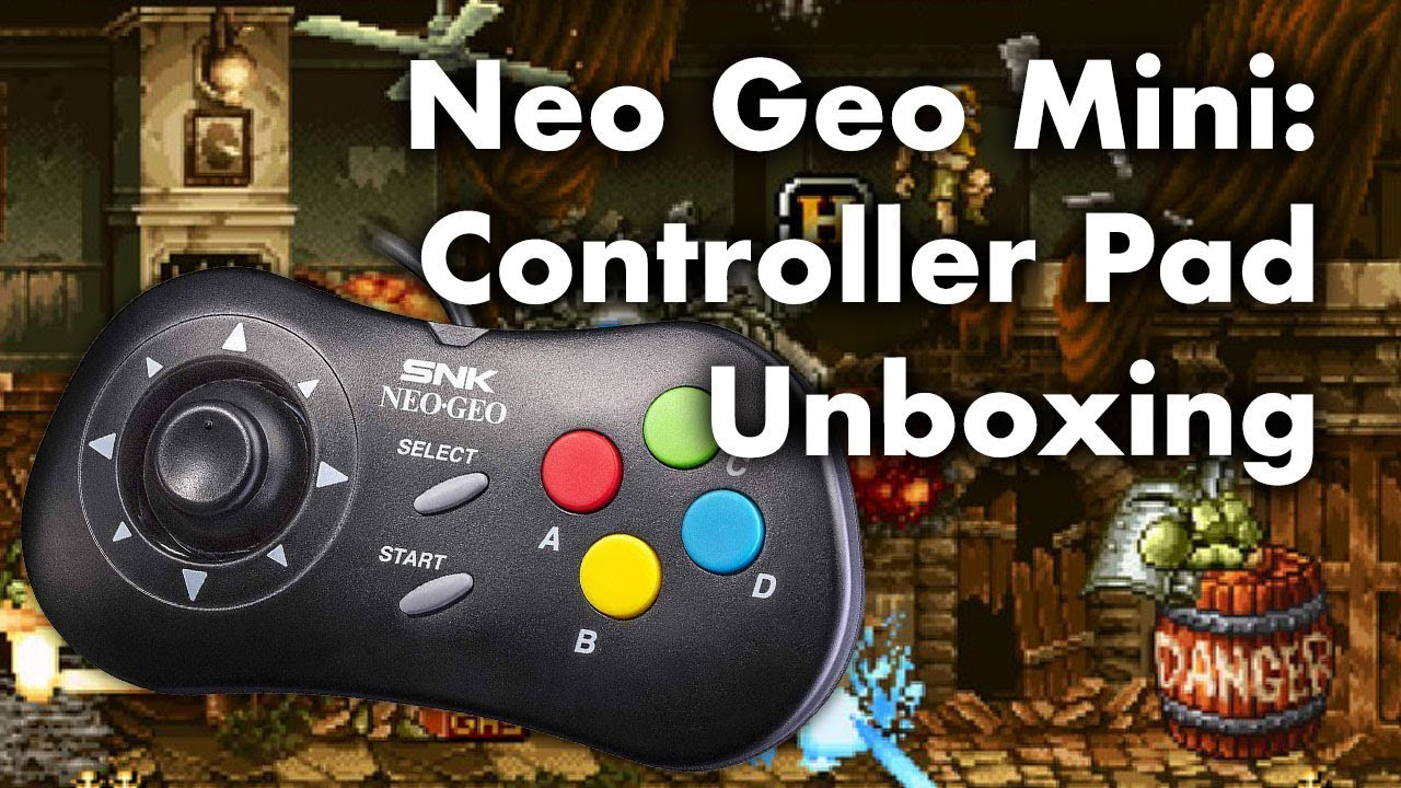 Neo Geo Mini Controller Pad Unboxing