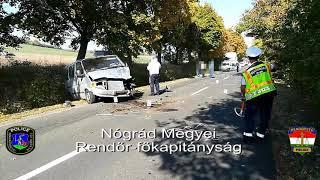 Halálos kimenetelű közúti közlekedési baleset Szécsény külterüeltén.