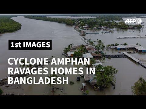 Cyclone Amphan breaks levee, ravages homes in Bangladesh | AFP