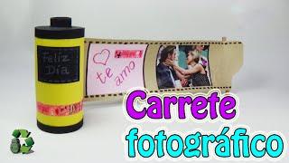 Ideas con tubos de cartón - Carrete fotográfico (Reciclaje) Ecobrisa.