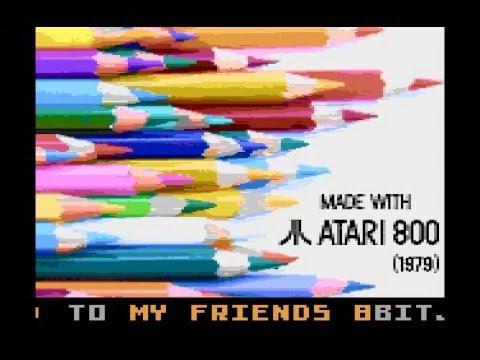 Made with Atari 800 Intro (Atari 8-bit)