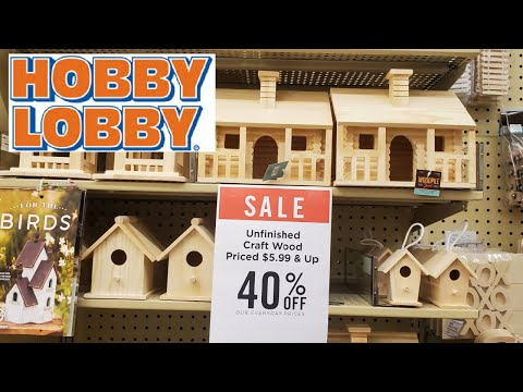 HOBBY LOBBY WOODEN CRAFTS COME WITH ME 2021