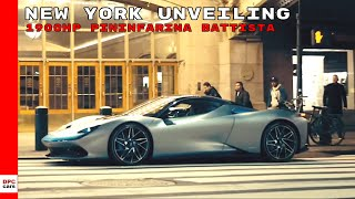 1900HP Pininfarina Battista Electric Hypercar New York Unveiling