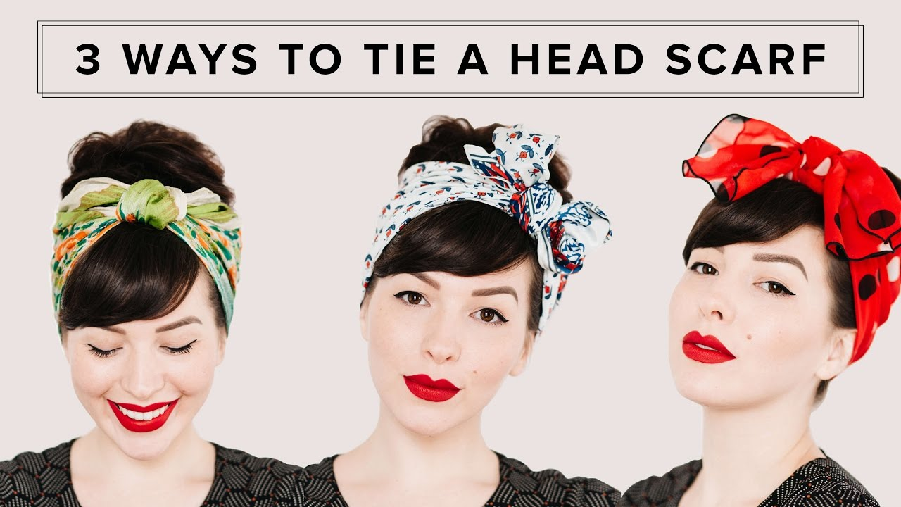 3 Ways To Tie A Head Scarf Hair Tutorial Youtube