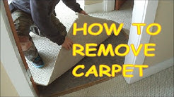 How to Remove Carpet for Laminate Hardwood Floor Installation MrYoucandoityourself