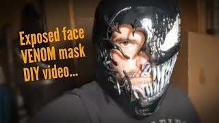 Exposed face Venom mask DIY build