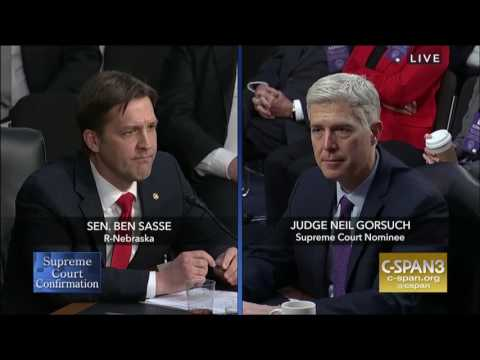 Sasse Asks Gorsuch: What If We Didn't Have a Bill of Rights?