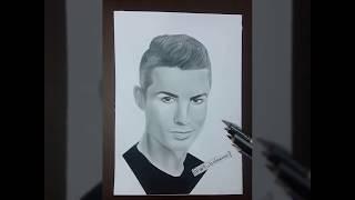 How To Draw  Cristiano Ronaldo - inanılmaz karakalem çizimi - CR7