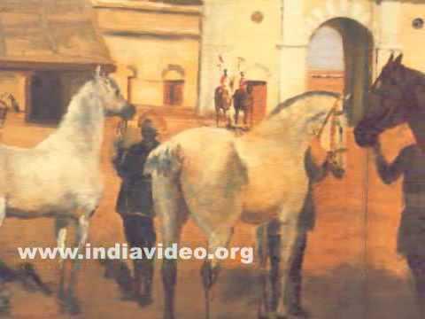 Mysore Stables by Raja Ravi Varma