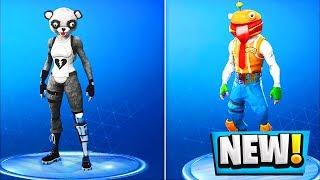 *NEW* SKINS & COSMETICS in Fortnite! Durr Burger Hero, Fuzzy Bear Panda, Celestial (Update v5.2)
