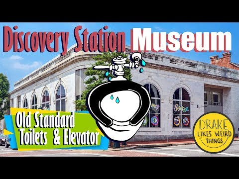 Toilet & Elevator Tour: (and marbles) Discovery Station Museum, Hagerstown Maryland
