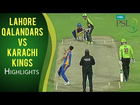 PSL 2017 Match 8: Lahore Qalandars v Karachi Kings Highlight