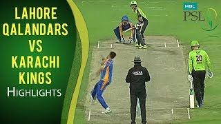 vuclip PSL 2017 Match 8: Lahore Qalandars v Karachi Kings Highlights