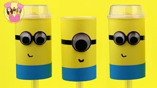 MINIONS PUSH POPS Or Cake Shooters By Charli's Crafty Kitchen